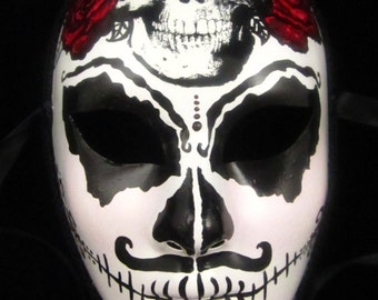 Limited Edition Bandolero Male Mask, Day of the Dead full faced paper mache mask
