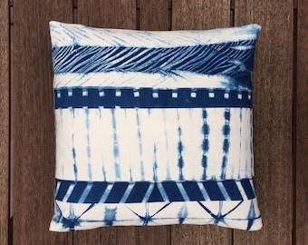 "Shibori Pillow Cover 20"" x 20"" (51 cm x 51 cm)"