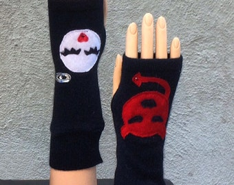 EMOJI FINGERLESS GLOVES
