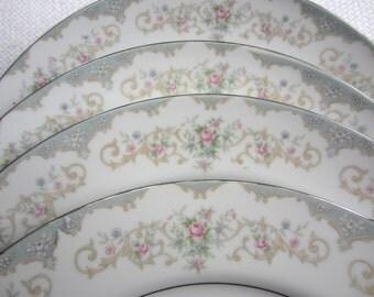 Vintage Tudor Rose Royal M Yamaka Japan Dinner Plate