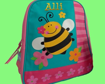 Personalized Stephen Joseph GoGo Backpack BEE Themed Bag-Monogramming Included
