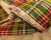 Chocolate Lollipop by Anna Maria for Free Spirit Fabric, Yummy Plain Design, Colorful Plaid Fabric