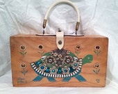 RARE Vintage Enid Collins Slow Poke II Turtle Original Box Bag Purse