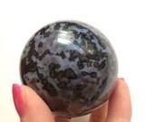RESERVED! 64mm Gabbro Sphere