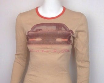 VTG 70s Corvette Airbrush Long Sleeve Tshirt