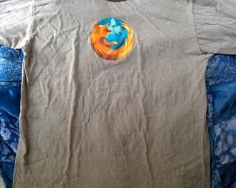 Firefox tshirt ringer men tech xl computer