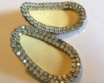 Vintage Rhinestone Shoe Clips / Ornaments