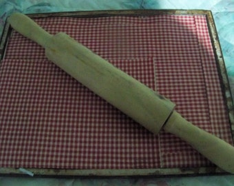 small  vintage wood  rolling pin