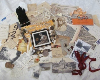 52 Pieces Antique Inspiration Kit for Craft, Scrap Book or Mixed Media Projects (lot 16)