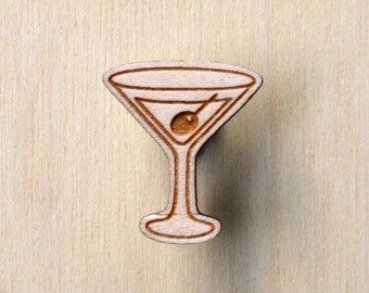 Martini lapel pin