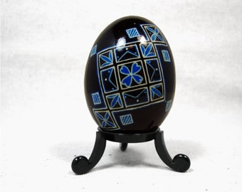 Pysanky, Escher, Geometric, Modern, Ukrainian, Blue Easter Egg, Blue Modern, Traditional Design, Blue Geometric,Ukrainian Pysanky - G17D