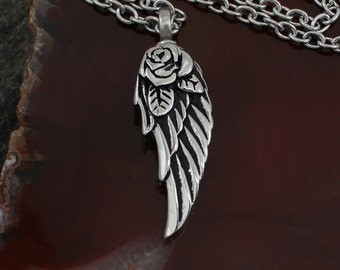 Angel Wing Urn Remembrance Necklace | Cremation Jewelry | Remembrance Urn Charm Necklace