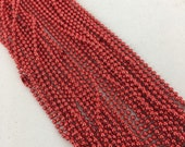 24 inch red ball chain  - Destash New - MSRP 2 dollars Sale 30 cents each chain