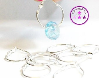 CLEARANCE 20 mm  Silver Plated Earring Hoops