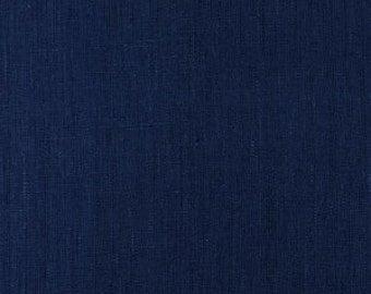 Solid color linen drapes, cobalt blue, linen curtain panels, rod pocket linen curtains