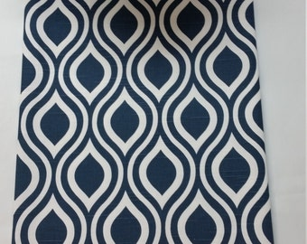 "RTS Navy blue and white, 102"" x 13"" nicole ogee, tablerunner, wedding decoration, table-runner"