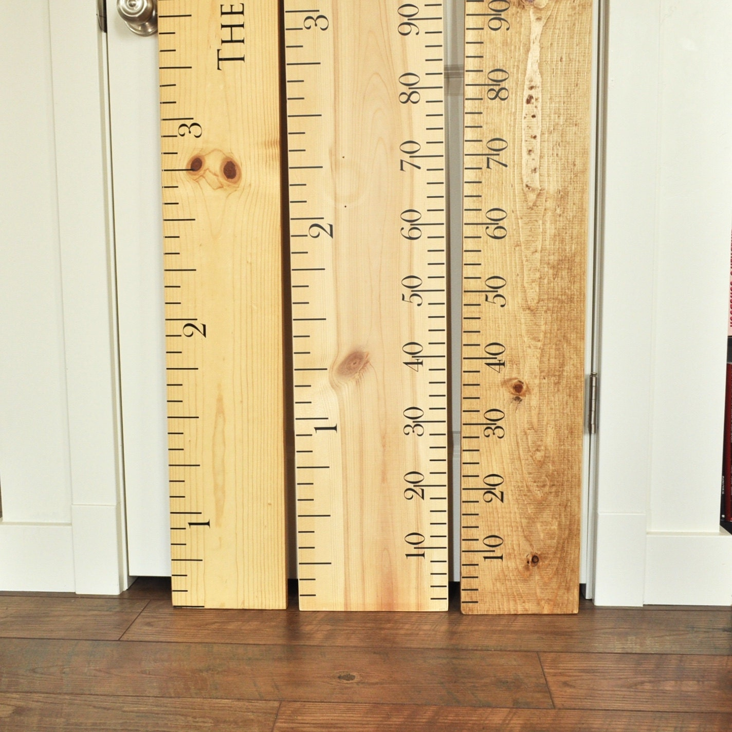 Ruler growth chart kit diy project oversized wood ruler