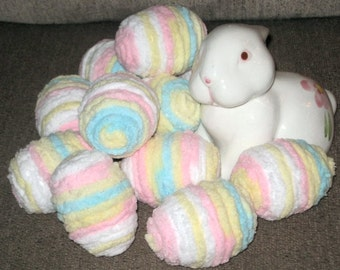 "Set of 12 ""Chenille"" Pastel Easter Eggs - Ready for Easter!!"