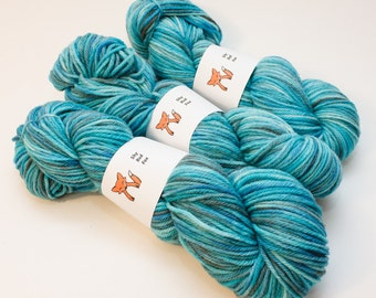 Blue Hour: The Nordic Series - Hand Dyed Wool Worsted Weight Yarn on Classic Fox Base