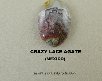 Crazy Lace Agate Designer Oval Cabochon for Jewelry Artisans.