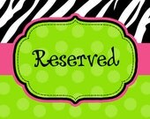 Reserved Listing for Jesica Kelly
