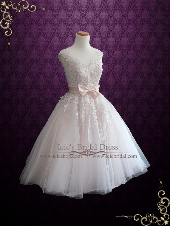 Vintage Style Wedding Dresses, Vintage Inspired Wedding Gowns Pearl Pink Retro Tea Length Wedding Dress Prom Dress Formal Dress | Retro 50s 60s Wedding Dress | Short Wedding Dress | RosaliePearl Pink Retro Tea Length Wedding Dress Prom Dress Formal Dress | Retro 50s 60s Wedding Dress | Short Wedding Dress | Rosalie $100.00 AT vintagedancer.com