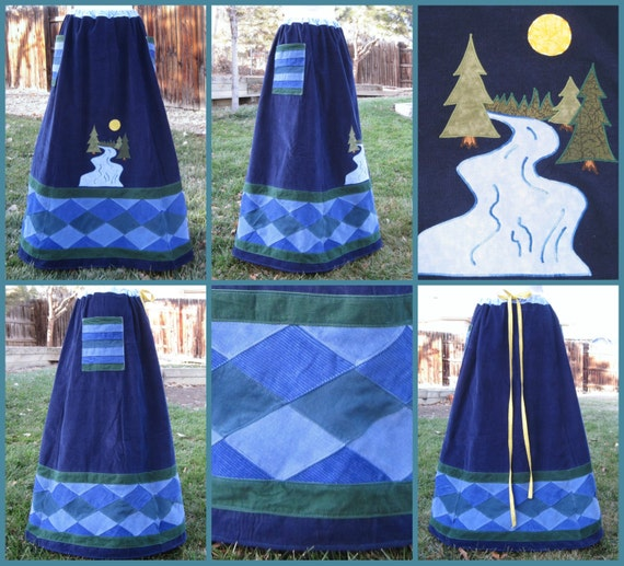 Custom~ Made To Order~ Patchwork Skirt