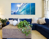 Seascape Canvas Prints - Wave Crash Photo Canvas Print - Canvas Art - Ocean Photo Canvas Prints - Framed Ready to Hang - Ocean Wave Wall Art