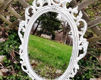 French White Vintage Mirror Free Shipping