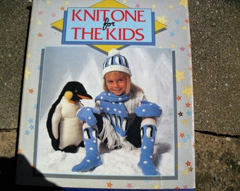 Vintage Book Knit One For The Kids Knitting for Children Knitting patterns