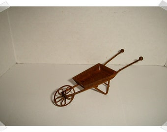 Rusty Mini Wheelbarrow/Fairy Garden/ Craft Supplies*