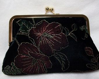 Evening Clutch Bag Made From Pretty Repurposed Fabric