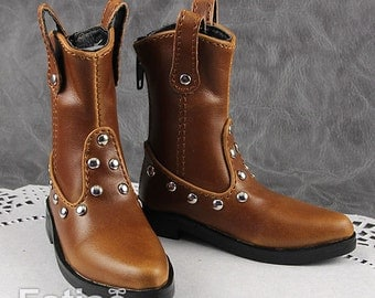 Fatiao - New 1/4 BJD dollfie MSD Cool Dolls Boots Shoes Brown