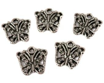 10 Butterflies, Antique Silver