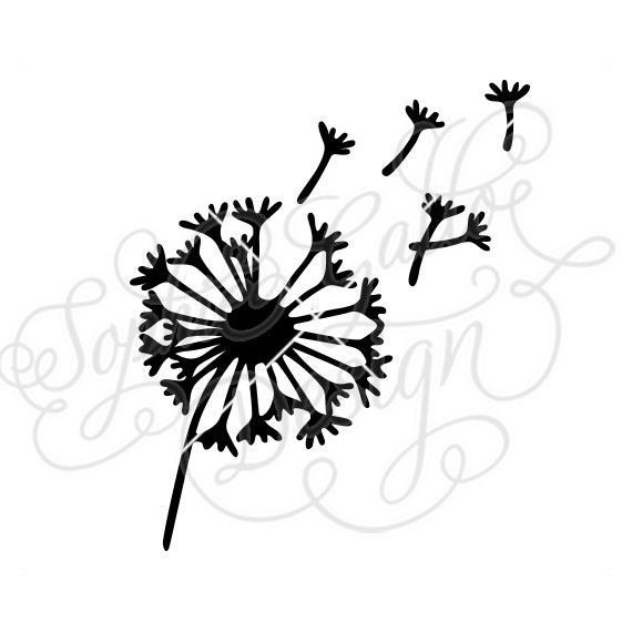 Dandelion Flower Svg Dxf Png Digital Download File Silhouette