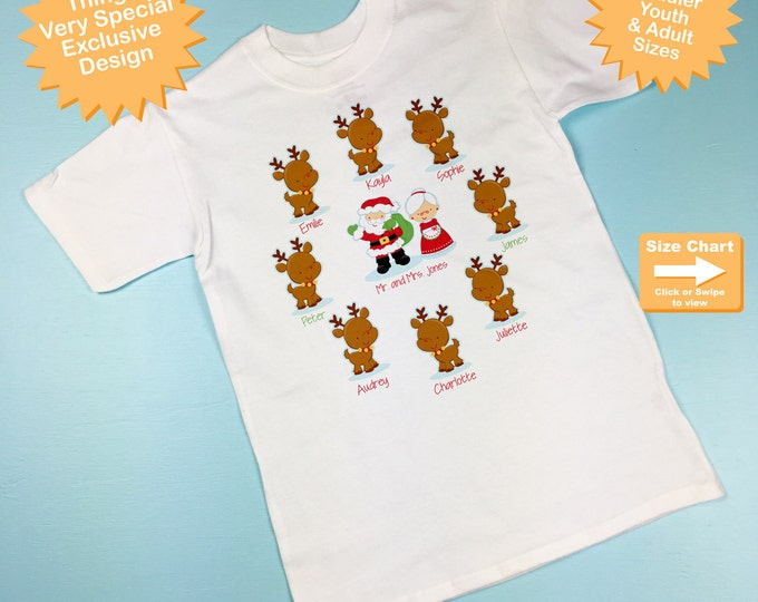 Personalized Grandparent Christmas Cousins / Grandchildren Shirt or Onesie, perfect for Mom and Dads or Grandparents (09182015f)
