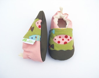 Classic Vegan Fishy / Non-Slip Soft Sole Shoes / Made to Order / Babies and Toddlers