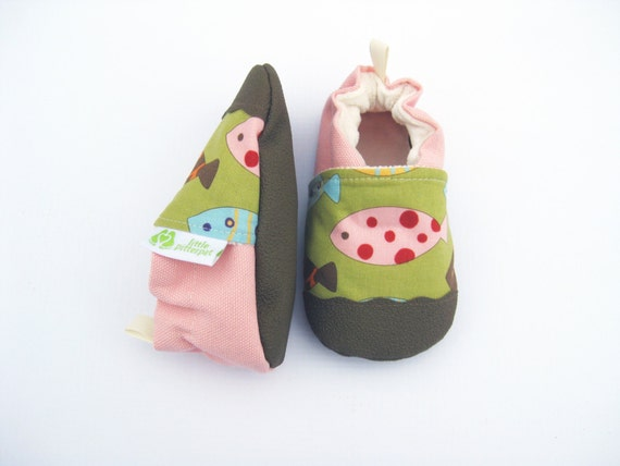 classic vegan fishy non slip soft sole shoes made to order