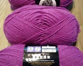 Yarn sale, Wool-Ease worsted weight yarn, pink, DESTASH, knitting yarn, machine washable
