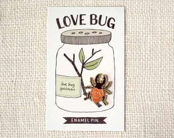 Enamel Pin, Valentine Gift - Love Bug