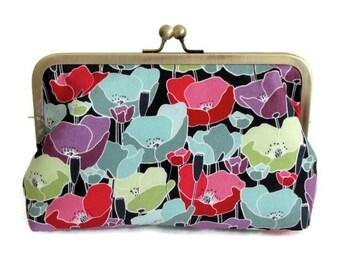 Poppies Clutch Purse, Clutch purse, Christmas, bridesmaid, wedding, birthday, summer clutch, bridal party gift