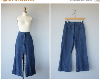 25% OFF SALE... 1970s Jeans | Vintage High Waisted Jeans | Wide Leg Jeans | Vintage Sailor Jeans | Vintage Workwear | Womens Jeans | High Ri