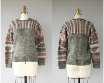 Vintage 1970s Sweater | 70s Sweater | Vintage Wool Sweater | Pullover Sweater | Handknit Sweater