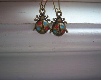 Ladybug Earrings - Lady Bug Earrings -Ladybird Earrings - Lady Bird Earrings - Bug Earrings