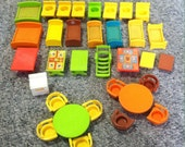 vintage Fisher Price Little People Furniture Lot