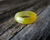 SALE // Lemon Zinger - Yellow - Faceted Agate Ring - Bold and Bright Summer and Fall Fashion