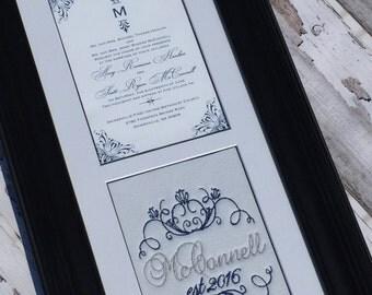Custom Monogrammed Wedding Invitation Keepsake