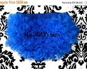 Sale BLOOMERS, Royal Blue Ruffled Diaper cover, Newborn bloomer, chiffon ruffle bloomer,  photo prop