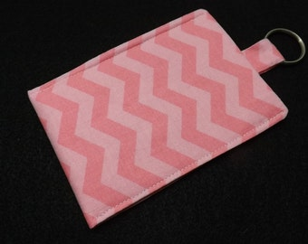 CELL PHONE SLEEVE Pink Chevron