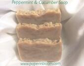 Peppermint & Cucumber Soap
